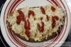 Recept Diabolská hrianka s miešanými vajcami a syrom - hrianky - návrh na servírovanie