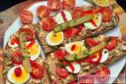 Recept Vajíčková nátierka - rybičková nátierka - návrh na servírovanie