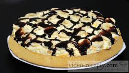 Trepací mandarínková torta s banánom a čokoládou