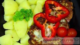 Karfiolové placky so šunkou