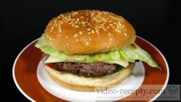 Šťavnatý domáci hamburger