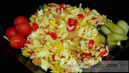 Rýchle rizoto s údeninou a syrom
