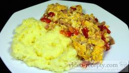 Vaječné fefe s údeným mäsom