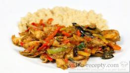 Ázijská kuracia čína s luxusnou ryžou
