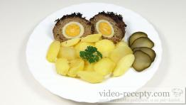 Mäsové gule so sójou plnené vajcom