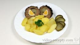 Mäsové gule plnené cibuľou s vajcom a údeninou