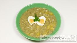 Kôprová polievka s hubami a vajcom