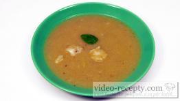 Karfiolová polievka s bazalkou