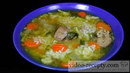 Hydinová polievka s ryžou
