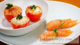 Plnené paradajky s lososom a mozzarellou